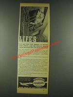 1936 Pennzoil Oil Ad - Life's At Stake