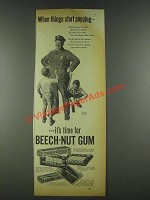 1936 Beech-Nut Gum Ad - When Things Start Popping