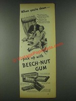 1936 Beech-Nut Gum Ad - When You're Down