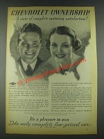 1936 Chevrolet Cars Ad - Ownership