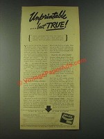 1936 Ex-Lax Laxative Ad - Unprintable But True