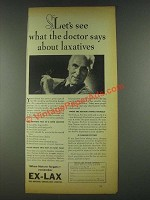 1936 Ex-Lax Laxative Ad - What the Doctor Says