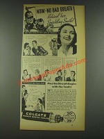 1936 Colgate Ribbon Dental Cream Ad - No Bad Breath
