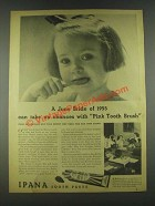 1936 Ipana Tooth Paste Ad - A June Bride