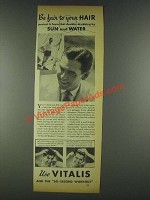 1936 Vitalis Hair Tonic Ad - Be Fair to Your Hair