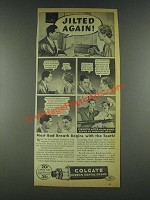 1936 Colgate Ribbon Dental Cream Ad - Jilted Again