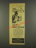 1936 Old Crow Crow Bourbon Ad