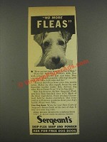 1936 Sergeant's Skip-flea soap & powder Ad - No Fleas