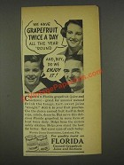 1936 Florida Citrus Commission Ad - Grapefruit
