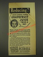 1936 Florida Citrus Commission Ad - Reducing?