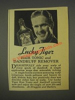 1936 Lucky Tiger Hair Tonic and Dandruff Remover Ad