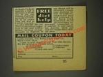 1936 The Battle Creek Food Co. Ad - Free Diet Help