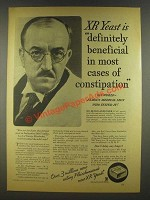 1935 Fleischmann's XR Yeast Ad - Cases of Constipation