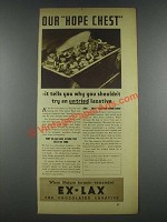 1935 Ex-Lax Laxative Ad - Our Hope Chest