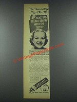 1935 Colgate Ribbon Dental Cream Ad - Dentist's Wife