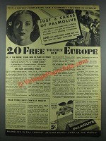 1935 Palmolive Soap Ad - Tours of Europe