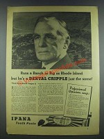 1935 Ipana Tooth Paste Ad - Runs Ranch as Big As