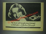 1935 Old Gold Cigarettes Ad - Barbara Stanwyk