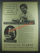 1933 Grape-Nuts Flakes Cereal Ad - Another Dish, Mother