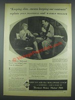 1933 Borden's Milk Ad - Joan Blondell, Warren William