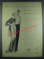 1933 Coty Face Powder Ad - Dress That Whispers
