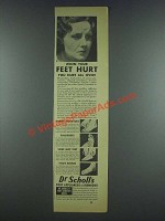 1933 Dr. Scholl's Foot Appliances and Remedies Ad