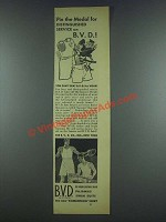 1933 B.V.D. Underwear Ad - Distinguished Service
