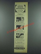 1933 Vicks Voratone Antiseptic Ad - A Better Mouth