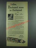 1933 Barbasol Ad - Sure Is Flattered by Singin' Sam