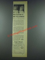 1933 Borden Eagle Brand Milk Ad - Once Despaired Of