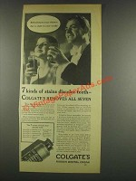 1933 Colgate's Ribbon Dental Cream Ad - 7 Stains