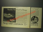 1933 Squibb Aspirin Ad - Reaches You Exact in Dosage