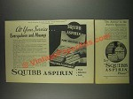 1933 Squibb Aspirin Ad - At Your Service