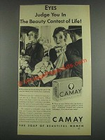1933 Camay Soap Ad - Eyes Judge You