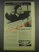 1933 Ipana Tooth Paste Ad - Her Hats are the Last Word