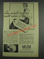 1933 Mum deodorant Ad - Might As Well Wear a Tag