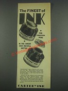 1933 Carter's Ink Ad - The Finest of Ink