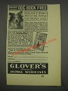 1933 Glover's Imperial Animal Medicines Ad
