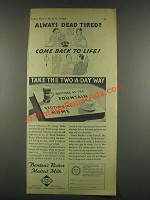 1932 Borden's Richer Malted Milk Ad - Dead Tired?