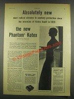 1932 Phantom Kotex Sanitary Napkin Ad - Radical Advance
