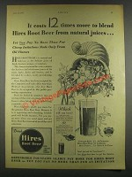 1932 Hires Root Beer Ad - It Costs 12 Times More
