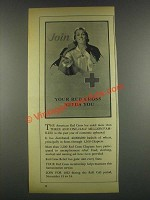 1932 Red Cross Ad - Join Your Red Cross Needs You
