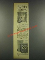 1932 Sir Walter Raleigh Tobacco Ad - Dante's Inferno