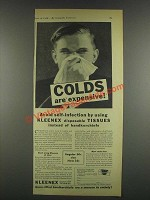1932 Kleenex Tissues Ad - Colds are Expensive