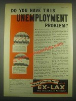 1932 Ex-Lax Laxative Ad - This Unemployment Problem?