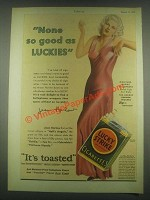 1932 Lucky Strike Cigarettes Ad - Jean Harlow