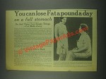 1932 Jad Salts Ad - You Can Lose Fat a Pound a Day
