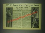 1932 Jad Salts Ad - Now Lose That Fat You Hate