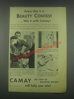 1932 Camay soap Ad - Every Day is a Beauty Contest