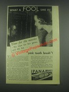 1932 Ipana Tooth Paste Ad - Time For The Movies